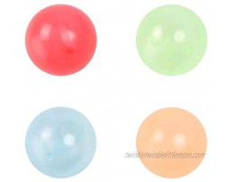 Aiwpstoin 4 8Pcs Luminescent Stress Relief Balls Ceiling Sticky Ball Glow in The Dark Decompression Toys Balls Stress Relief Toys for Kids and Adults Funny Toy for ADHD OCD Anxiety 4Pcs 70mm