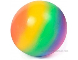 Giant Stress Ball-Anti Stress Sensory Ball Squeeze Toy for Adults and Kids -Suitable for Home and Office Rainbow
