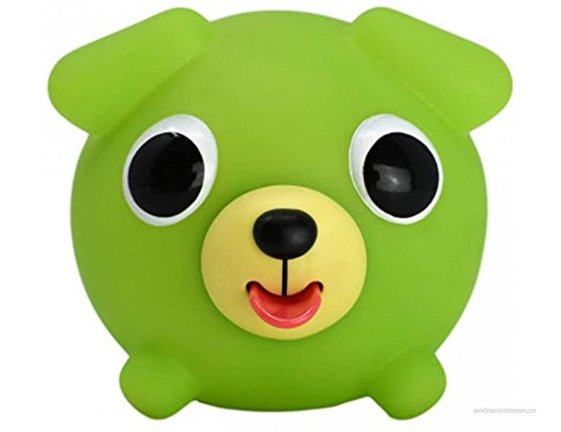 Jabber Ball Sankyo Toys Squeeze and Play Sound Ball Neon Green Dog