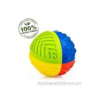 Pure Natural Rubber Sensory Ball 3 RAINBOW SEALED HOLE All Natural Sensory Toy Promotes Sensory Development Bright Colors Perfect Bouncer BPA Free PVC Free Hole Free Sensory Ball for Baby