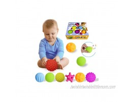 Sensory Balls For Baby Textured Multi Baby Balls Gift Sets Massage Stress Relief Water Bath Toys Spikey Sensory Squeeze Ball 6 month baby toys For Kids Toddlers6 Pack