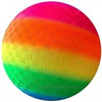 Yummoo Nonslip Rainbow Ball,8.5 Inch Rainbow Playground Ball for Kids Soft PVC Bouncy Kick Ball for Backyard Park and Beach Outdoor
