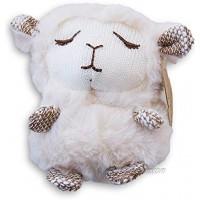 Sleepy Head Super Soft Plush Animal Rattle Baby Toy 4 Inches Tall Lamb