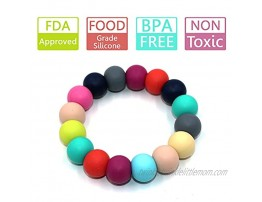 Sensory Teething Bracelet for Baby Silicone Chewable Beads Bracelet for Kids Infants Toddlers Teether Ring Toys for Boys and Girls with Autism ADHD ADP Biting Anxiety or Special Needs