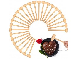 72 Pieces Wooden Hammers for Chocolate Mini Wooden Mallets Hammer Toy Pounding Gavel Toy Educational Beating Toy for Easter Egg Crab Mallets Crafts and Party Game Props for Boys Girls