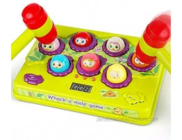 BAODLON Interactive Pound a Mole Game Toddler Toys Light-Up Musical Pounding Toy Early Developmental Toy Fun Gift for Age 2 3 4 5 Years Old Kids Boys Girls 2 Soft Hammers Included