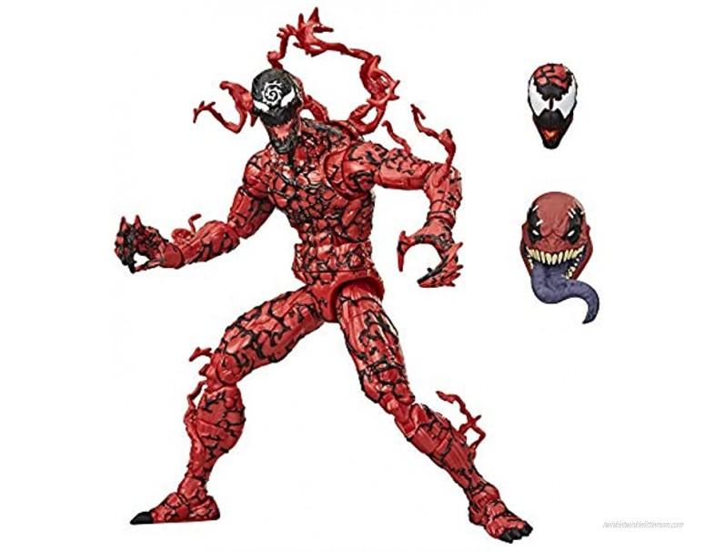 Hasbro Marvel Legends Series Venom 6-inch Collectible Action Figure Toy Carnage Premium Design and 1 Accessory
