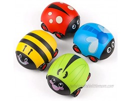 XQW Pull Back Baby Toys Car for 1 2 3 4 5 6 Year Old Boys Girls Kids Toys Car for Girls Boys Toddlers 4 Pack Colorful Toddler Toys Christmas Birthday Gifts for Kids