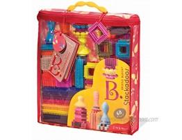 B. toys Building Blocks for Kids – 68 Toy Blocks in a Storage Pouch – STEM Toys – Soft & Interlocking Blocks – Bristle Block Stackadoos – 2 years +