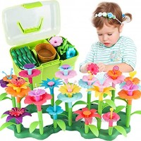 Girls Toys Age 3-6 Year Old Toddler Toys for Girls Gifts Flower Garden Building Toy Educational Activity Stem Toys130 PCS