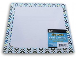 Framed Wipe-Clean Sign Colorful Reusable Blue 11.75 x 10.5 Inches