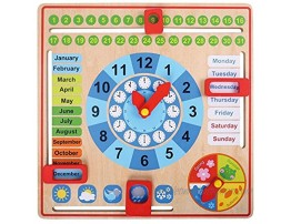 Pidoko Kids Montessori Toys for Toddlers 3 Years 4 Year Old Learning Materials for Preschool All About Today Board Wooden Calendar and Learning Clock Educational Gifts for Boys and Girls