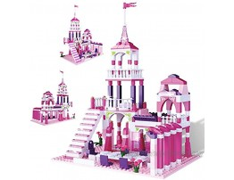 MONING.C JIMUJIA Girls Building Blocks Toys Princess Castle 361 Pieces Pink Palace Prince and Princess Toys for Girls Bricks Construction Toys Christmas Birthday Gift for Kids Age 6-12 and Up