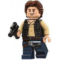 LEGO Star Wars Minifigure from Death Star Han Solo Wavy Hair with Blaster 75159