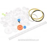 uxcell 61Pcs Plastic Gear Package Kit DIY Gear Assortment Accessories Set for Motor Robot Various Gear Axle Belt Bushings