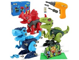 LeonMake Kids Toys Dinosaur Toys: Take Apart Dinosaur Toys for Kids 3-5 with Electric Drill | STEM Toys for Age 3 4 5 6 7 Year Old Boys Girls | Birthday Gifts Christmas Stocking Stuffers for Kids
