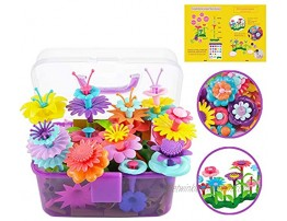 POMIKU Girls Toys for 3 4 5 6 Year Old Toddler Girls Gifts Flower Garden Building Toys for Kids Age 3yr-6yr Build a Garden STEM Fun Flower Toy 109PCS