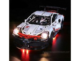brickled LED Light Kit for Porsche 911 RSR Model Lego 42096 USB Power Lego Set no Included