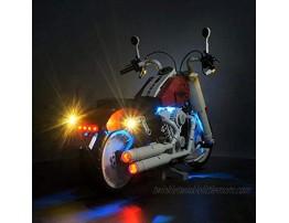 brickled LED Lighting Kit for Lego Creator Expert Harley-Davidson Fat Boy 10269 Lego Set not Included V2