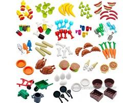 Kitchen Food Accessories Building Block Toy Brick Compatible for Major Brands for Mini Figure Part