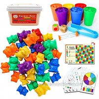 116 PCS Rainbow Counting Bears with Matching Sorting Cups with Storage Box Bear Counters Math Manipulatives Educational Gift for Toddler STEM Educational Sorting Color Learning Toy