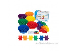 edxeducation Counting Bears with Matching Bowls Early Math Manipulatives 68pc Set 60 Bear Counters 6 Bowls & 2 Game Spinners Home Learning
