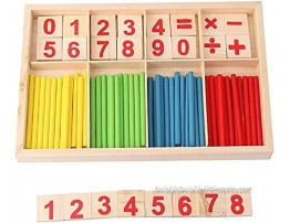 ZKMESI Montessori Counting Tool Toy Educational Mathematical Counting Sticks Box Counting Number Cards and Counting Rods for 3+ Year Old Toddler Boys Girls