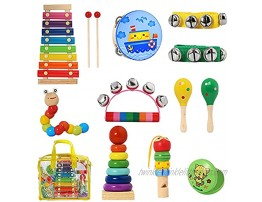 CYY Musical Instrument Toys for Toddlers,Baby Learning Music Sets,Wood Xylophone&Percussion Instruments for Children,Preschool Educational for Kids A Great Birthday Gifts for Boys or Girls
