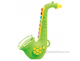 HMANE Saxophone Musical Instrument Toys with Light & Sound Early Education Toy for Boys Girls Green