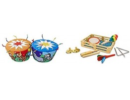 Melissa & Doug K's Kids Bongo Drums Soft Musical Instrument & Band-in-a-Box Clap! Clang! Tap! Musical Instruments