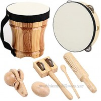 ML.ENJOY Wooden Musical Instruments Toys for Toddlers and Kids Bongo Drums for Kids and Percussion Sets Eco-Friendly Toddler Musical Instruments with Storage Bag