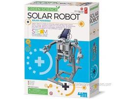 4M Green Science Solar Robot Kit Green Energy Robotics Eco-Engineering STEM Toys Educational Gift for Kids & Teens Girls & Boys Packaging May Vary Multi