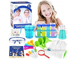 Elover Kids Science Experiments Kit with Lab Coat Scientist Costume Dress Up Pretend Play Toys Set Birthday Gift for Boys Girls Age 8 Years Old Up