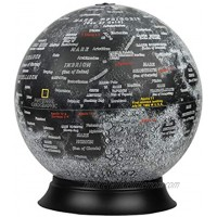 12″Diameter Illuminated National Geographic Moon Globe Removable Cord Touch Light Control Detailed Cartography Made in USA