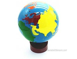 Baby Earth Globe Toys Montessori Earth Globe Plastic and Wood Material Learn to Know World Children Early Learning Teaching Aids Multicolor