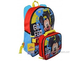 Mickey Mouse 16 Backpack with Shaped Lunch Bag- KMRB