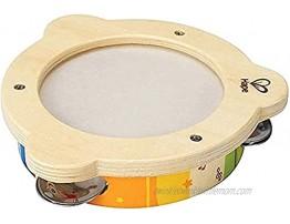 Hape Tab Along Mr. Tambourine   Kid's Wooden Drum Musical Instrument
