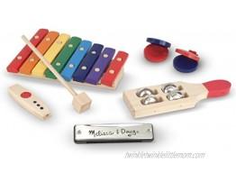 Melissa & Doug Band-in-a-Box Hum! Jangle! Shake! 7-Piece Musical Instrument Set