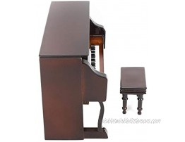 Bicaquu Piano Music Box Black Color Musical Model Upright Piano for Home OfficeBrown