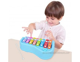 BUDDYFUN 2 in 1 Baby Piano Toy Xylophone for Kids Preschool Educational Toddlers Development Musical Instruments Boys Girls Great Gifts for Birthdays and Christmas