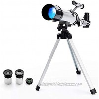 Kids Astronomical Telescope Five-Feelings 90X Astronomical Landscape Telescope with Tripod 2 Magnification Eyepieces 1.5X Barlow Len Finderscope Early Science Education Toys for Children
