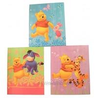 Disney Winnie the Pooh 3 Folder Set ~ Walking Hand in Hand Dance Time Forever Friends