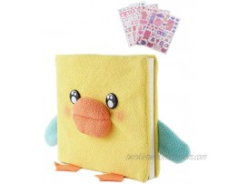 HXN Cute Duck Plush Fleece Notebook Journal for Kids Sketchbook Diary for Girls 160 Pages 5.9 x 5.5 with Lined and Blank Pages for Writing Drawing and Doodling for School Home Gift for Kids