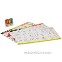 Melissa & Doug Letters & Words Write-a-Mat w  Crayon Bundle for Ages 4 to 5+: Alphabets Phonics & Handwriting The Straight Edge Series