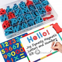 237 Pcs Magnetic Letters and Numbers with Magnetic Board and Storage Box Uppercase Lowercase Foam Alphabet Letters for Fridge Refrigerator ABC Magnets for Classroom Kids Learning Spelling