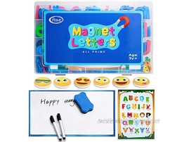 All Prime 247Pc Magnetic Letters and Numbers for Toddlers -Includes Magnet Board Emoji Magnets ABC Education Sheet Math Magnets & More -Upper and Lowercase ABC Magnets for Kids and Classrooms