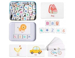 HOONEW Magnetic Letters Numbers Magnets for Fridge Alphabet ABC 123 Uppercase Lowercase Math Fridge Refrigerator Magnets Learning Educational Spelling Counting Toy for Kids Toddlers 3+ Years Old