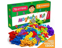 Premium Alphabet Magnets Gift Set 106 PCs Magnetic Letters and Numbers for Fridge and Dry Erase Board Foam 123 ABC Alphabet Magnets Best Educational Toy for Kids!