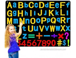 Preschool Alphabets Flannel Felt Letters Numbers Board for Kids Children Large Wall Storyboard Activity with 107 Pieces ABC Letters Numbers Learning Spelling Counting Montessori Teacher Aide Gifts