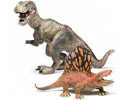 Dinosaur Toys,2 Pack Jumbo Dinosaur Figure Model Toys Realistic Looking Jurassic Dinosaurwith Scene Display Box